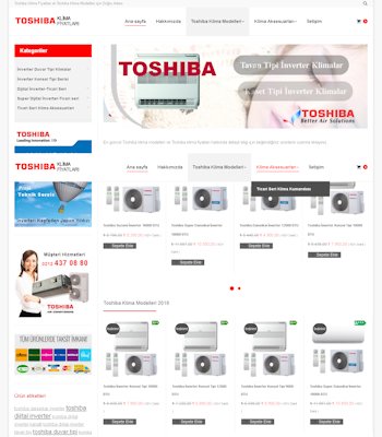 toshina klima fiyatları